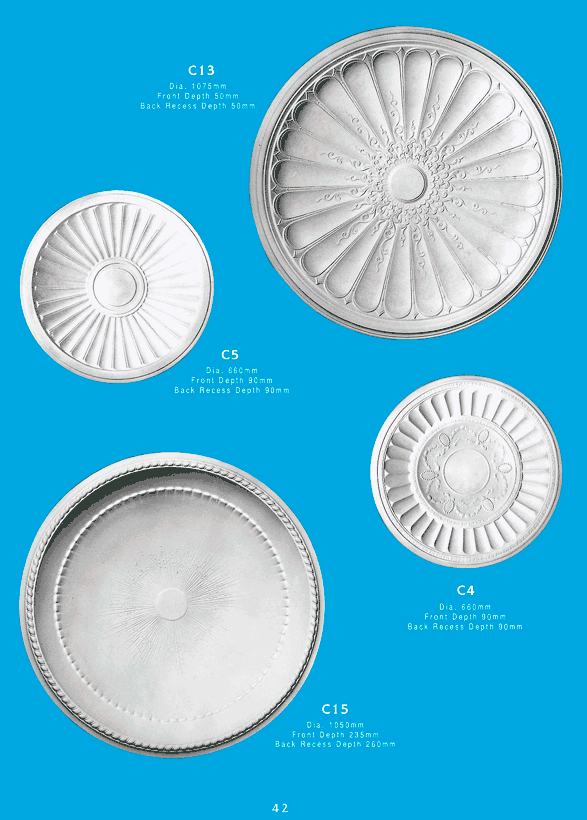 Page 1 - Ceiling Domes - Ornamental interior plaster ceiling domes. Ceiling Panels is Brisbane's leading supplier of decorative plaster and ornamental plaster ceiling domes.
