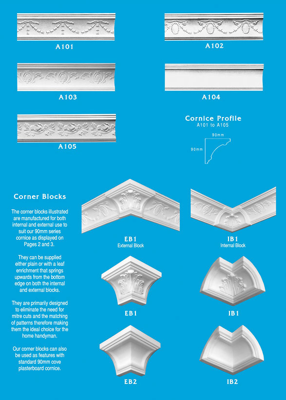 Page 1 - Cornice - Ceiling Panels is Brisbane's largest supplier of plaster ornamental cornice, colonial cornices, art deco cornices, victorian style cornices, federation style cornices, georgian cornices, and neo gothic cornices.