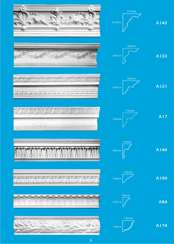 Page 5 - Cornice - Ceiling Panels is Brisbane's largest supplier of plaster ornamental cornice, colonial cornices, art deco cornices, victorian style cornices, federation style cornices, georgian cornices, and neo gothic cornices.