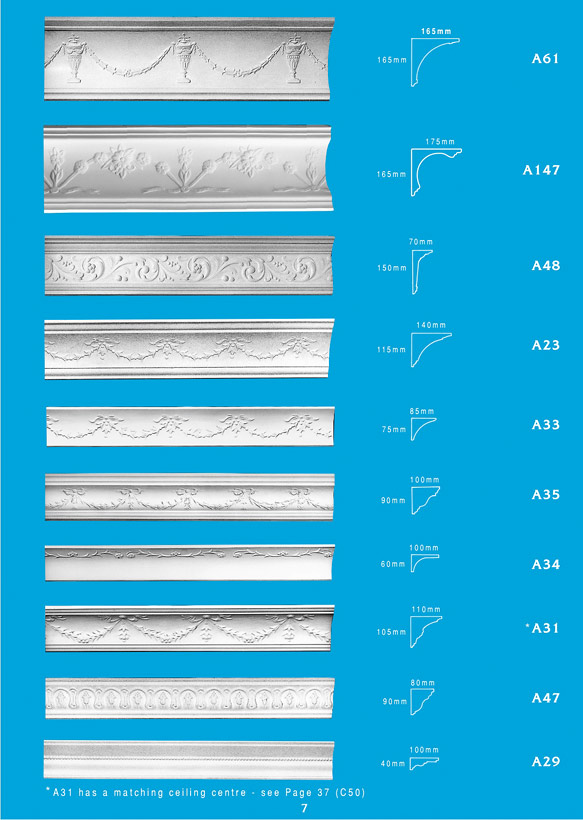 Page 7 - Cornice - Ceiling Panels is Brisbane's largest supplier of plaster ornamental cornice, colonial cornices, art deco cornices, victorian style cornices, federation style cornices, georgian cornices, and neo gothic cornices.
