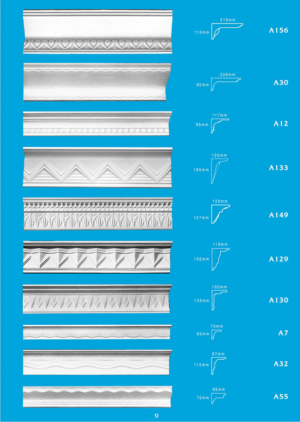 Page 9 - Cornice - Ceiling Panels is Brisbane's largest supplier of plaster ornamental cornice, colonial cornices, art deco cornices, victorian style cornices, federation style cornices, georgian cornices, and neo gothic cornices.