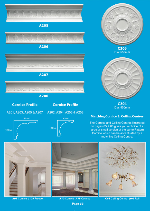 Page 4 - Matching Cornice & Centre Pieces -