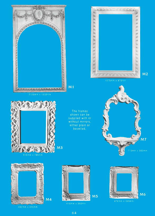 Page 1 - Mirror Frames - Ceiling Panels is Brisbane's Decorative Plaster Products Specialist. We specialise in ornamental and decorative plaster mirror frames.